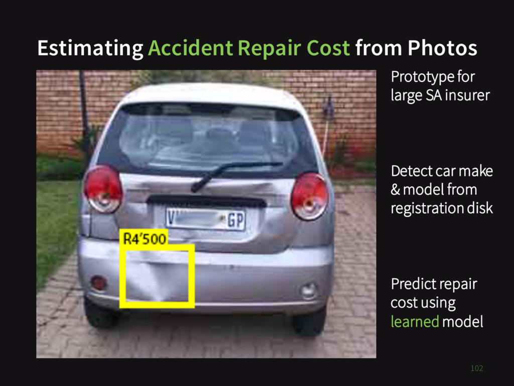 Estimating Accident Repair Cost from Photos TOD...