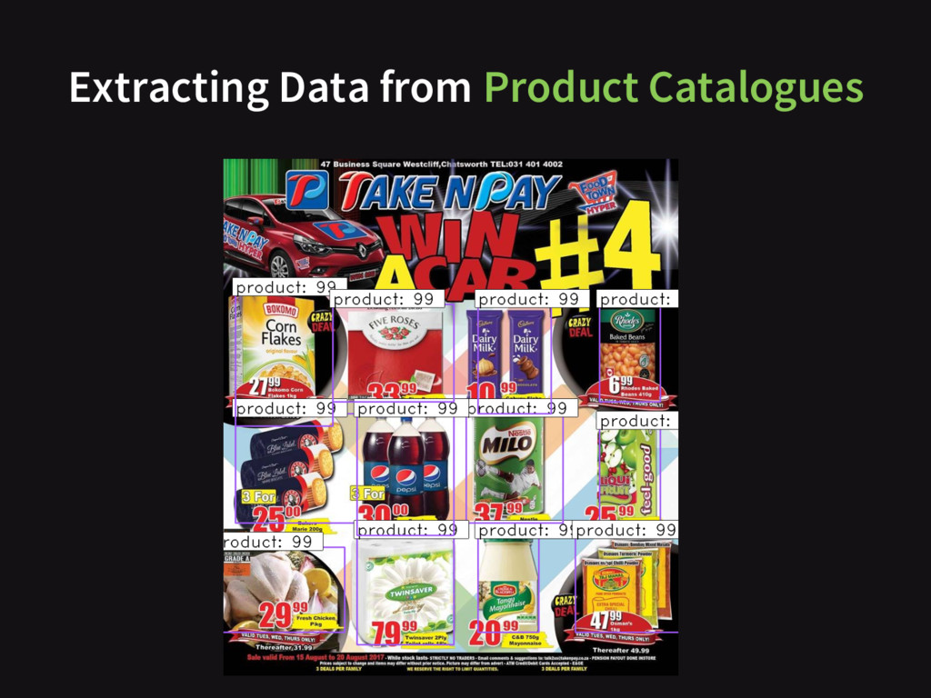 Extracting Data from Product Catalogues