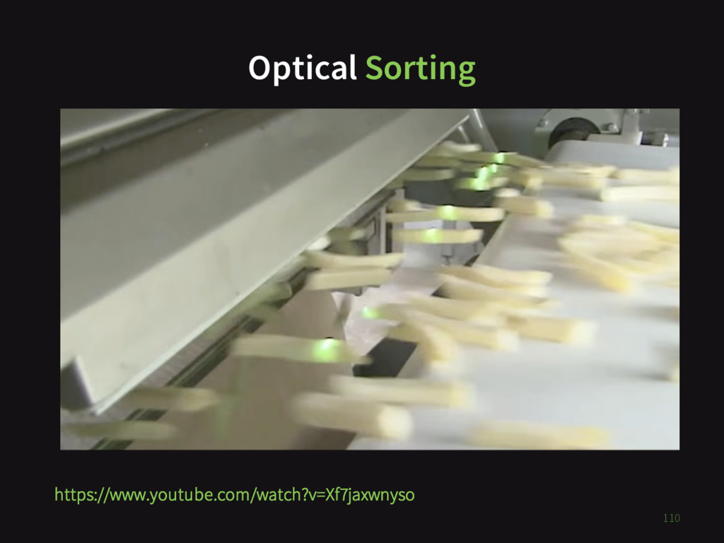 Optical Sorting TODO 110 https://www.youtube.co...