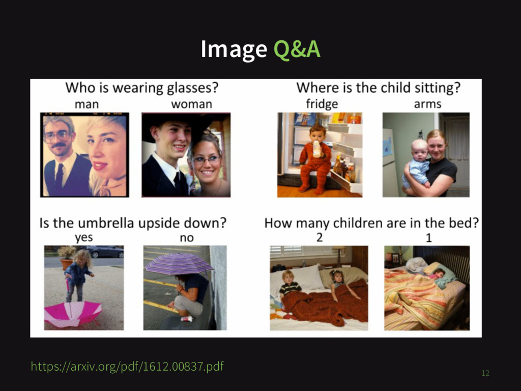 Image Q&A 12 https://arxiv.org/pdf/1612.00837.p...