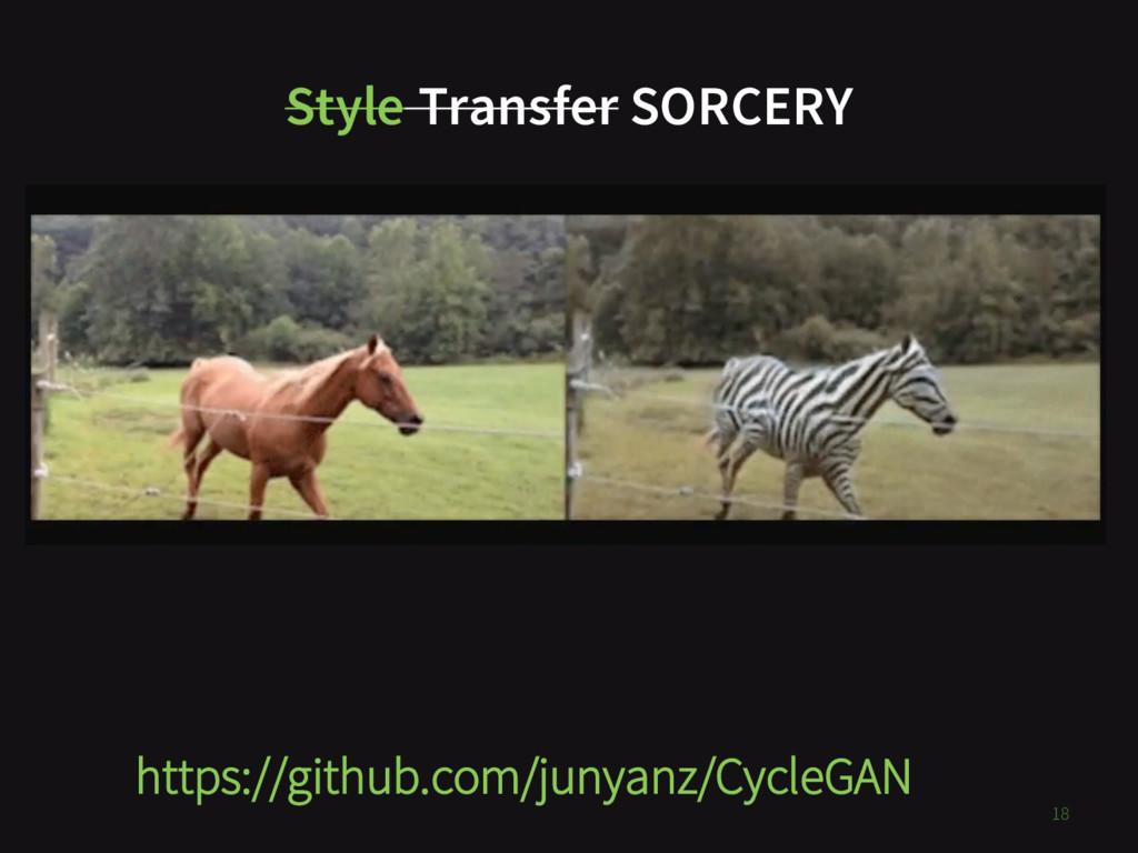 Style Transfer SORCERY https://github.com/junya...