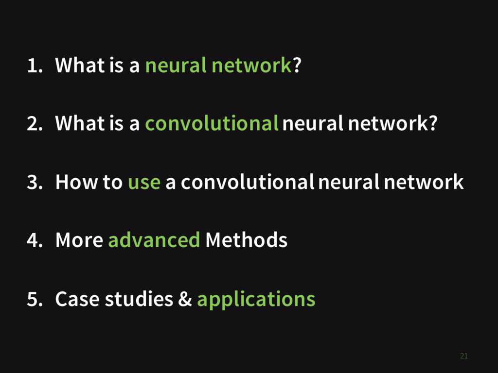 1. What is a neural network? 2. What is a convo...