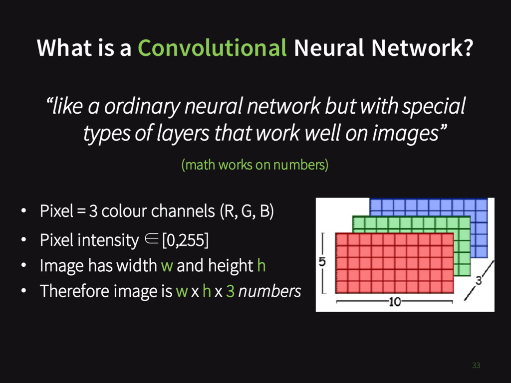 """What is a Convolutional Neural Network? 33 """"lik..."""
