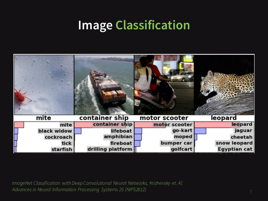 Image Classification 7 ImageNet Classification ...