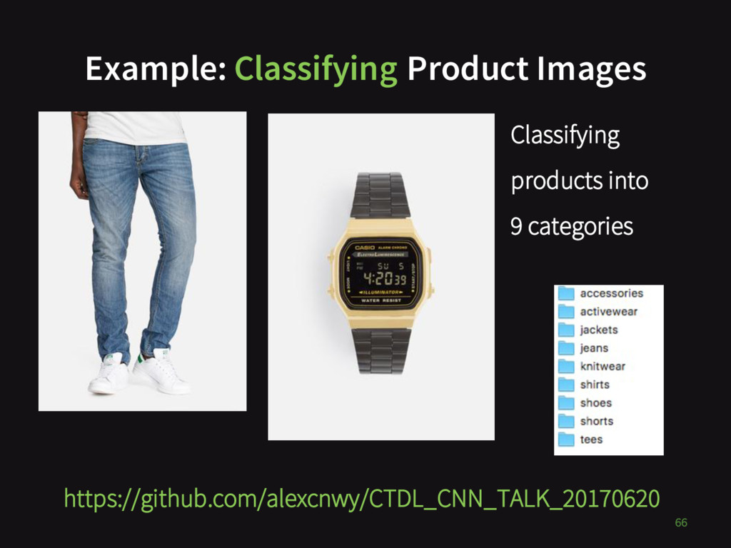 Example: Classifying Product Images 66 https://...