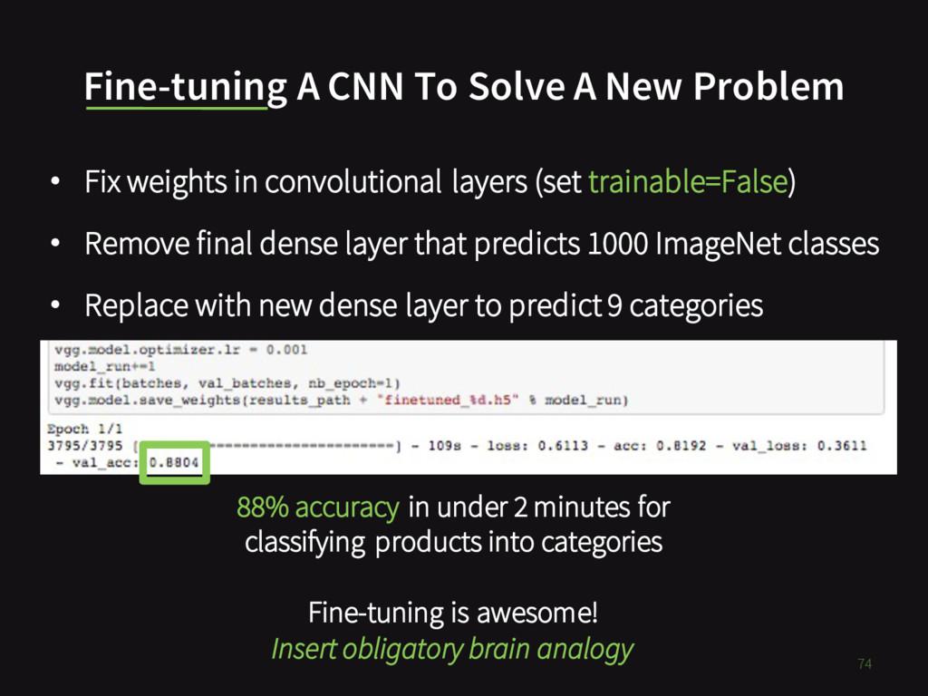 Fine-tuning A CNN To Solve A New Problem • Fix ...