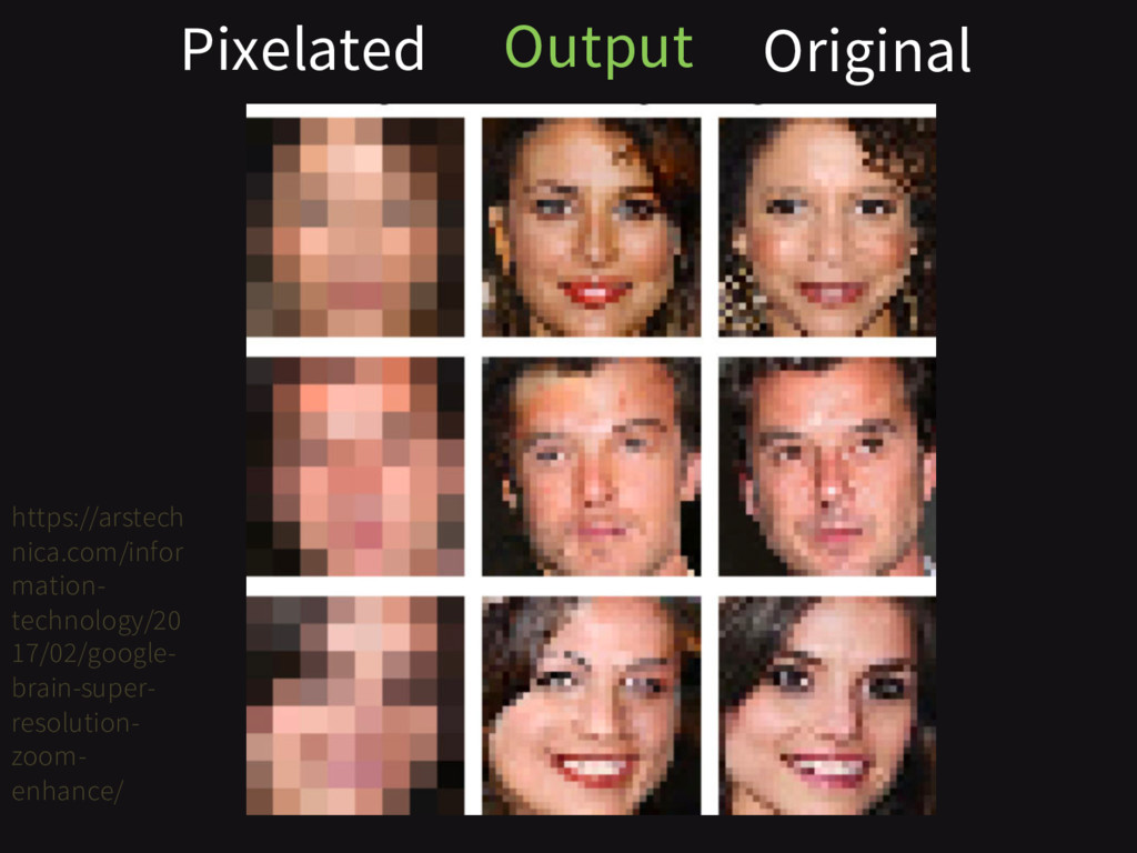 Pixelated Original Output https://arstech nica....