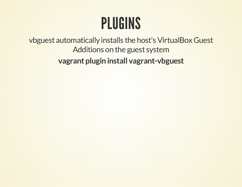 PLUGINS vbguest automatically installs the host...