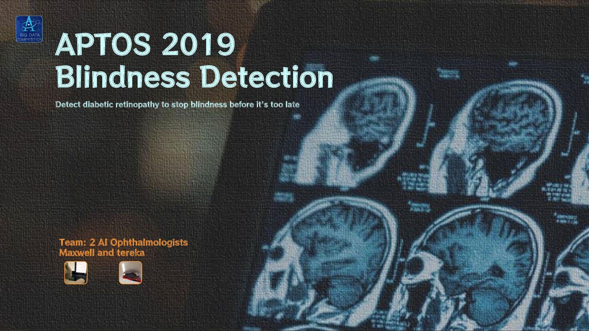 APTOS 2019 Blindness Detection Detect diabetic ...
