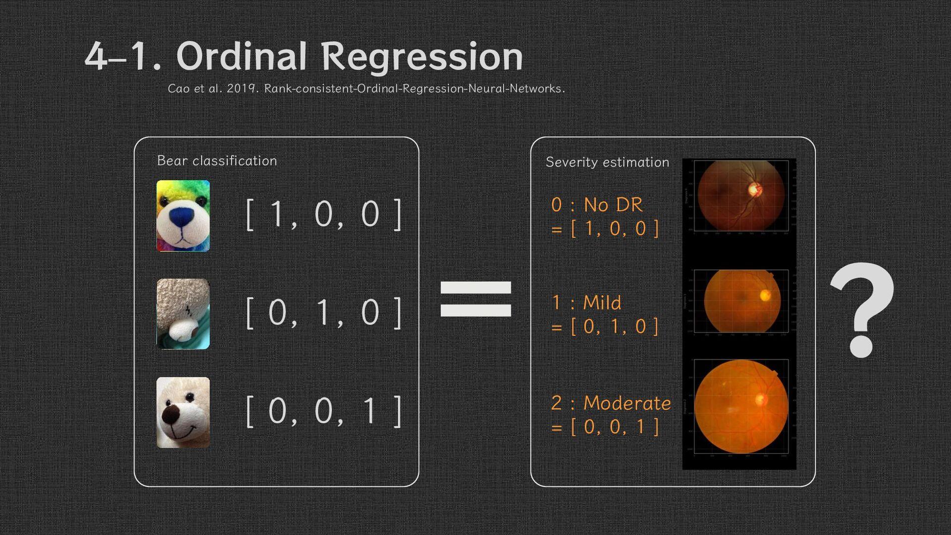 4 – 1. Ordinal Regression Q. ? = [ 1, 0, 0 ] [ ...