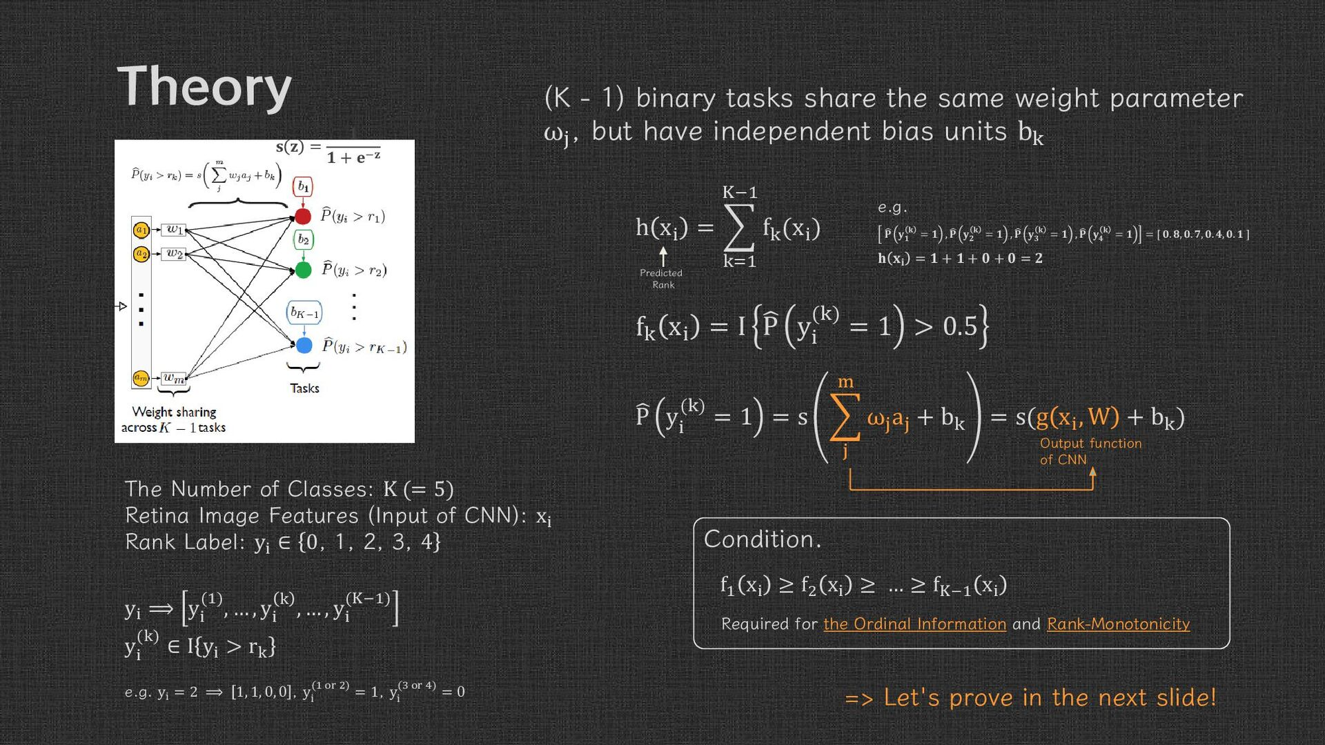 Theory   =   + − (= ) : The Number of Classes  ...