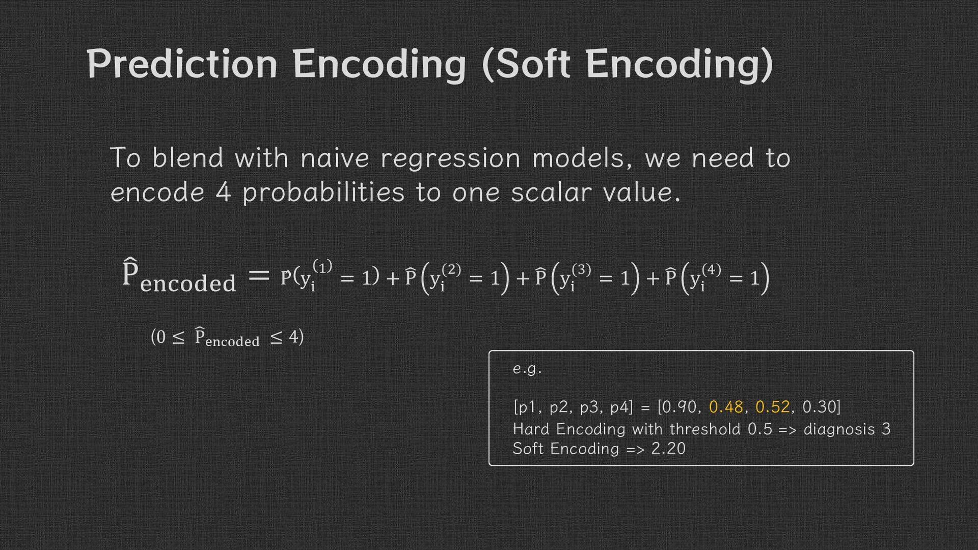 Prediction Encoding ( Soft Encoding ) To blend ...