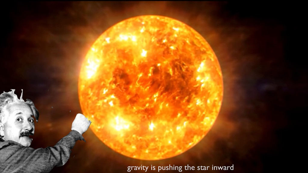 @fedhere gravity is pushing the star inward