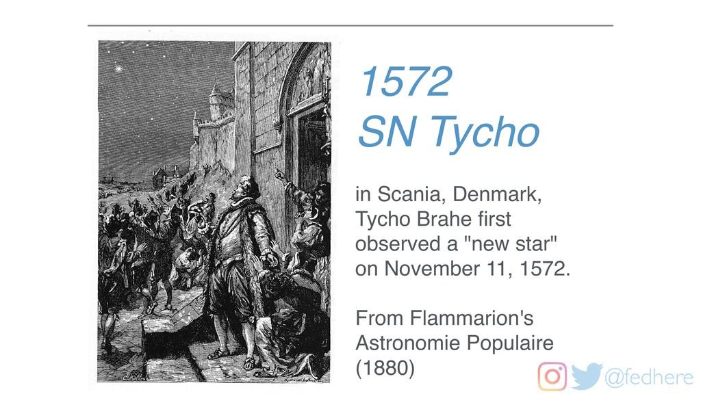 @fedhere 1572 SN Tycho in Scania, Denmark, Tych...