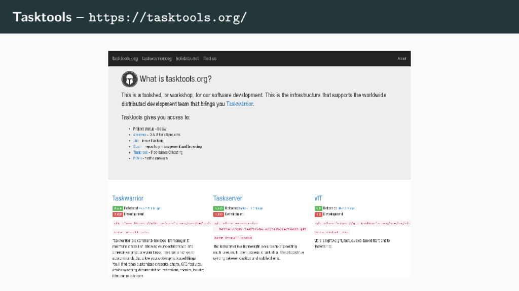Tasktools – https://tasktools.org/