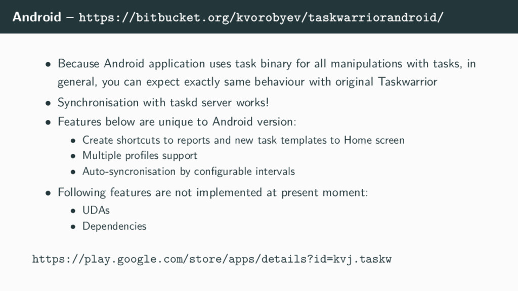 Android – https://bitbucket.org/kvorobyev/taskw...