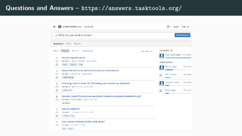 Questions and Answers – https://answers.tasktoo...