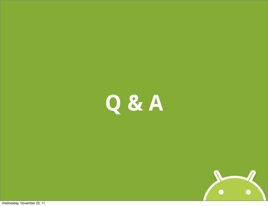 Q & A Wednesday, November 23, 11