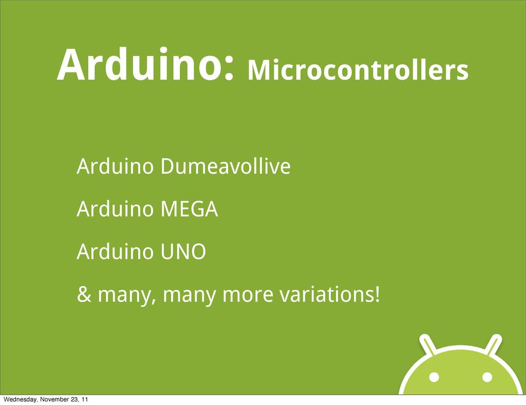Arduino: Microcontrollers Arduino Dumeavollive ...