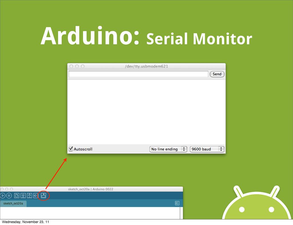 Arduino: Serial Monitor Wednesday, November 23,...