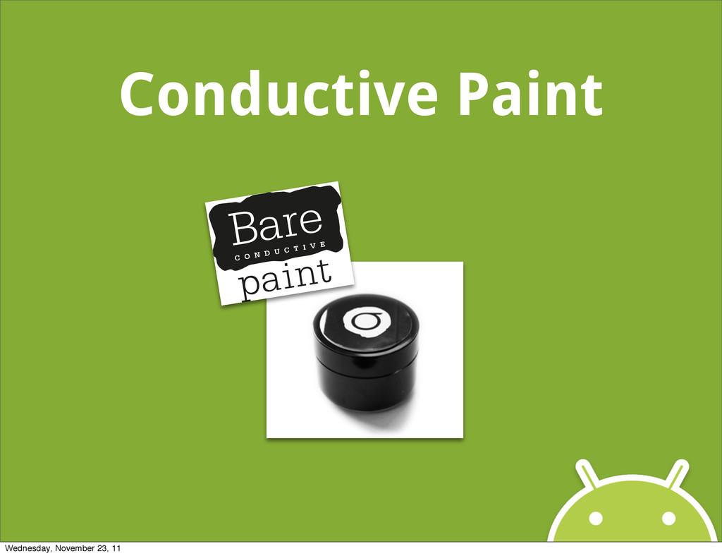Conductive Paint Wednesday, November 23, 11