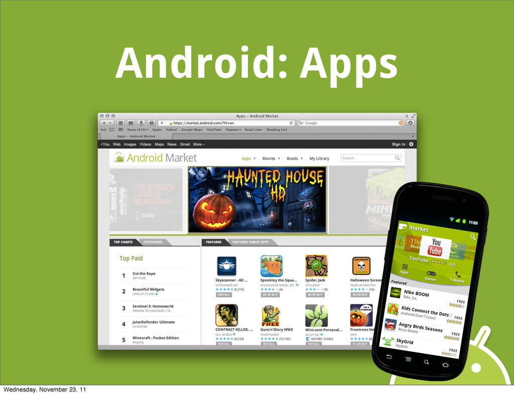 Android: Apps Wednesday, November 23, 11