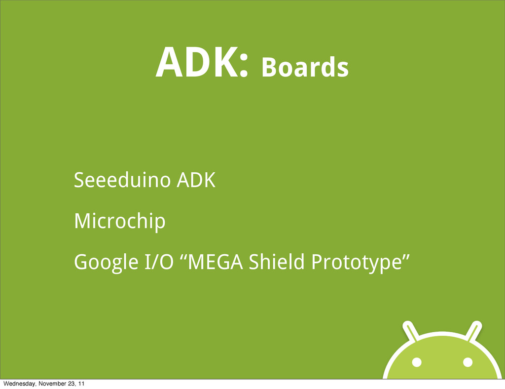 ADK: Boards Seeeduino ADK Microchip Google I/O ...