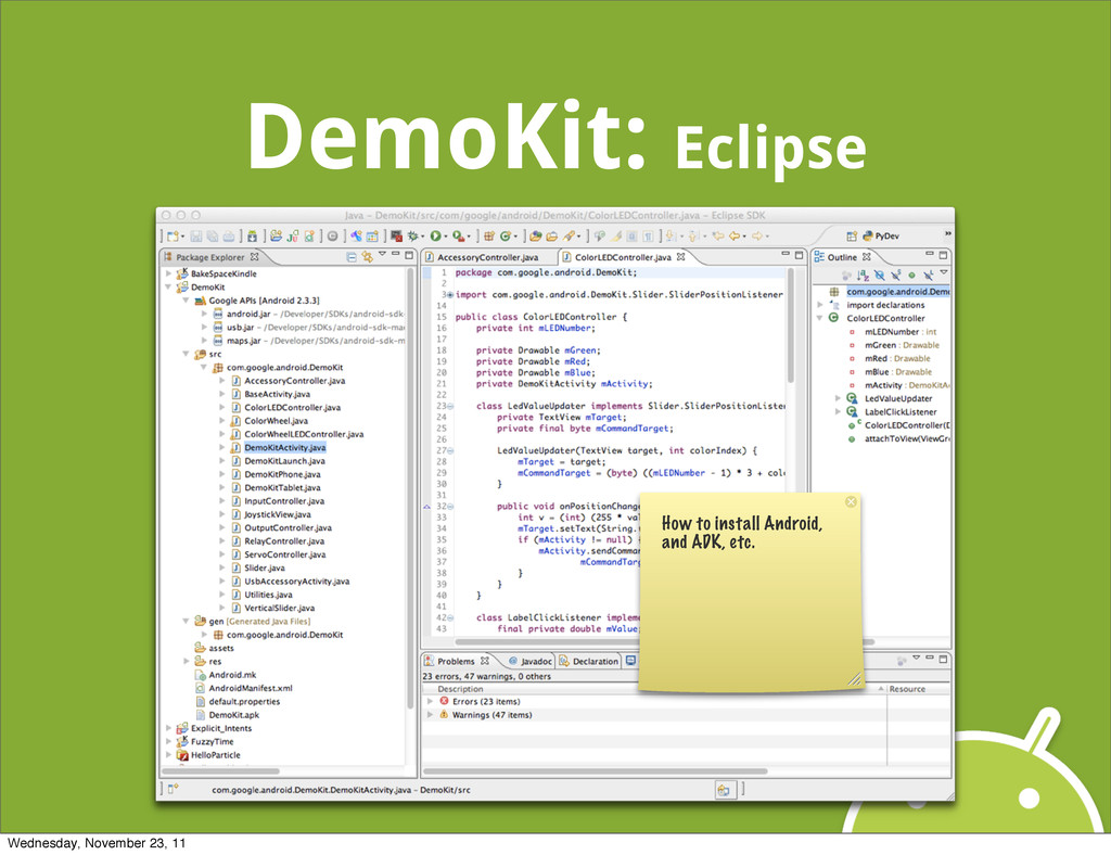 DemoKit: Eclipse How to install Android, and AD...
