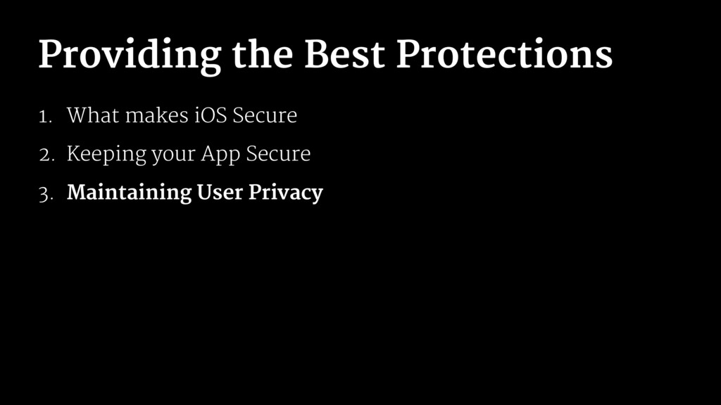 Providing the Best Protections 1. What makes iO...