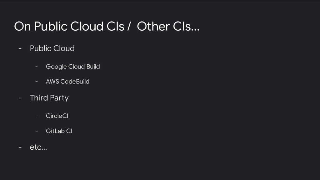 On Public Cloud CIs / Other CIs... - Public Clo...