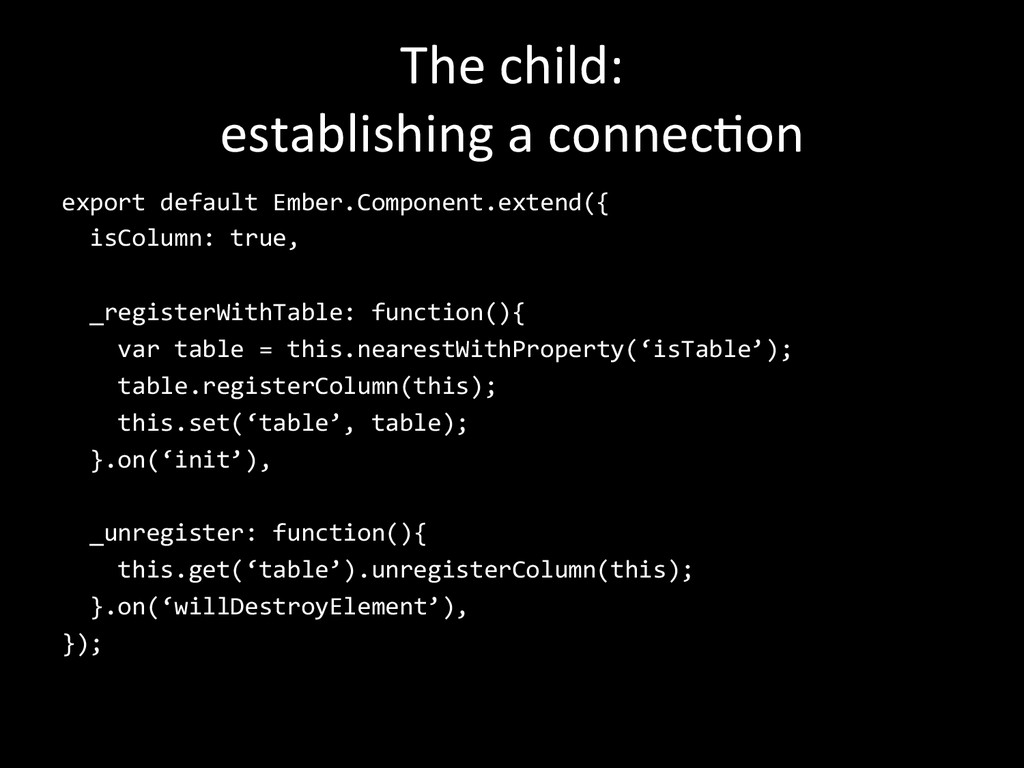 The child:   establishing a conn...