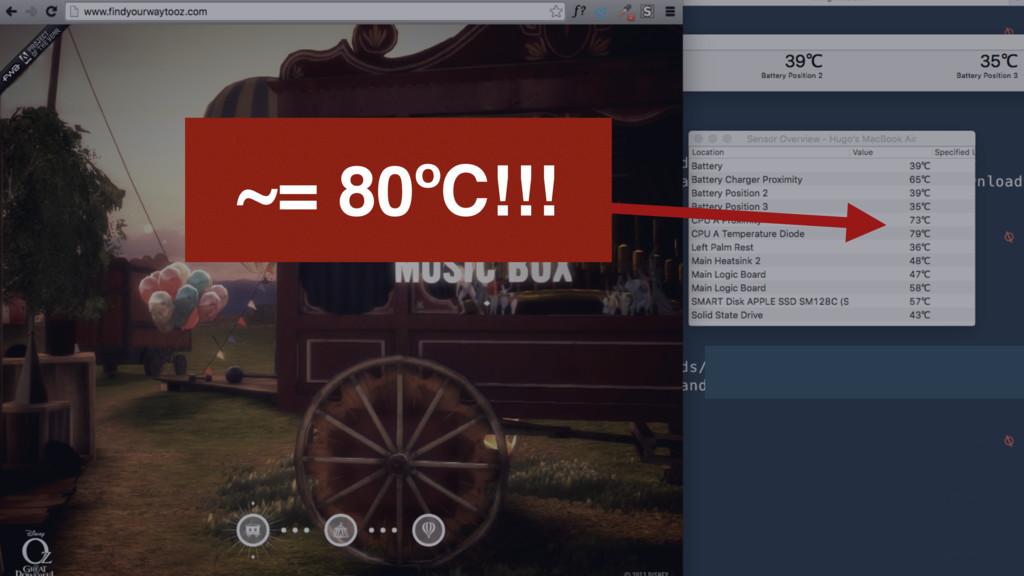 ~= 80ºC!!!