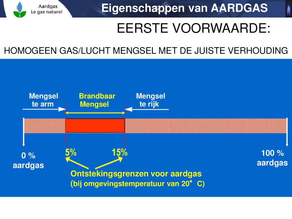 100 % aardgas Mengsel te arm Brandbaar Mengsel ...