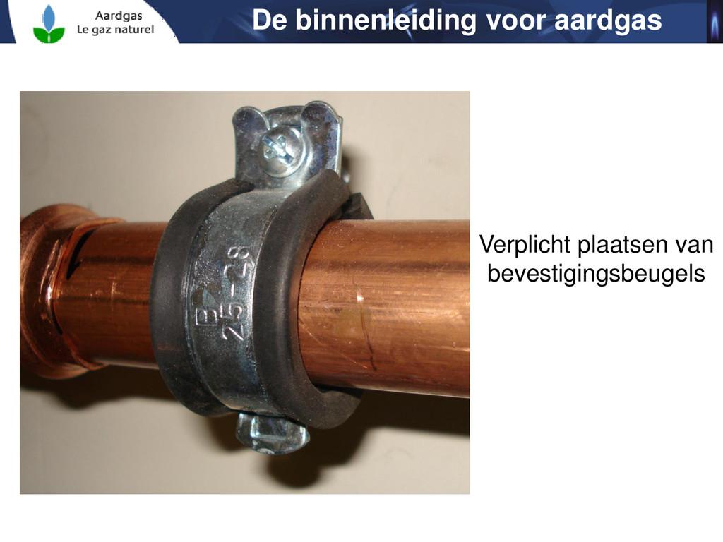 De binnenleiding voor aardgas Verplicht plaatse...