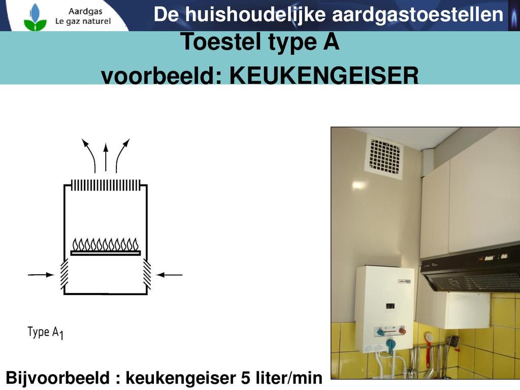 40 Bijvoorbeeld : keukengeiser 5 liter/min Toes...