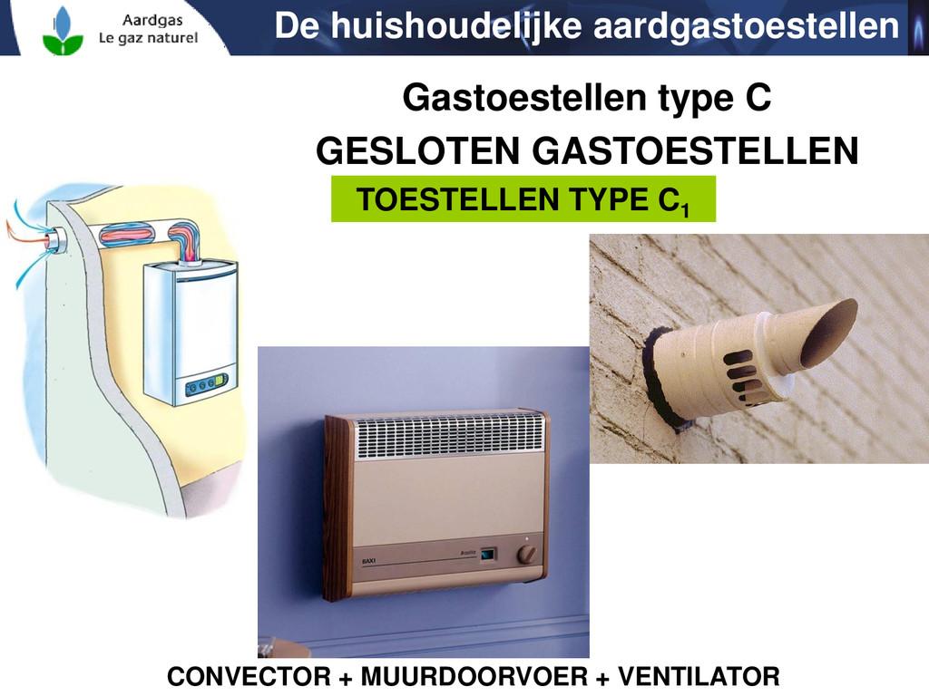 TOESTELLEN TYPE C1 CONVECTOR + MUURDOORVOER + V...