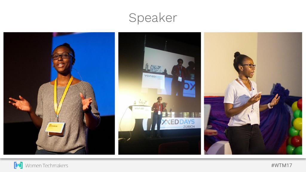 #WTM17 Speaker