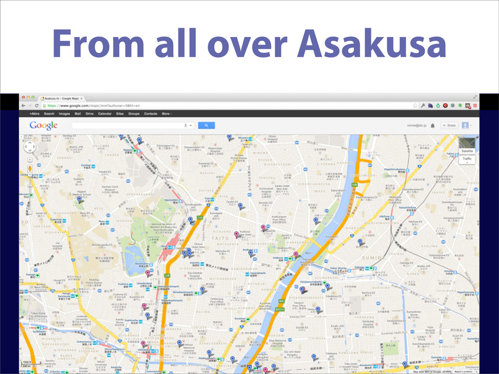 From all over Asakusa
