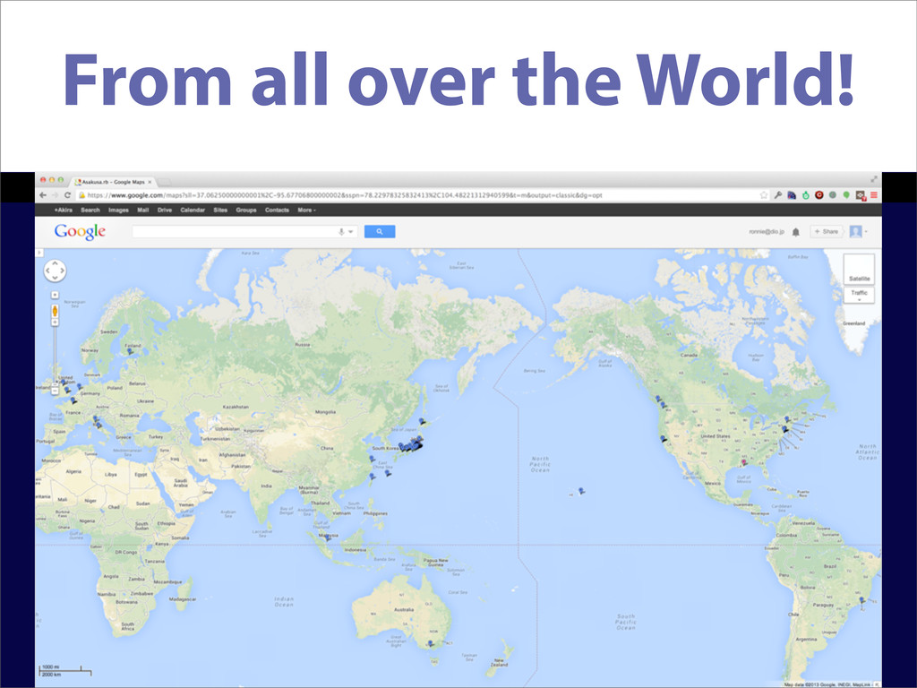 From all over the World!