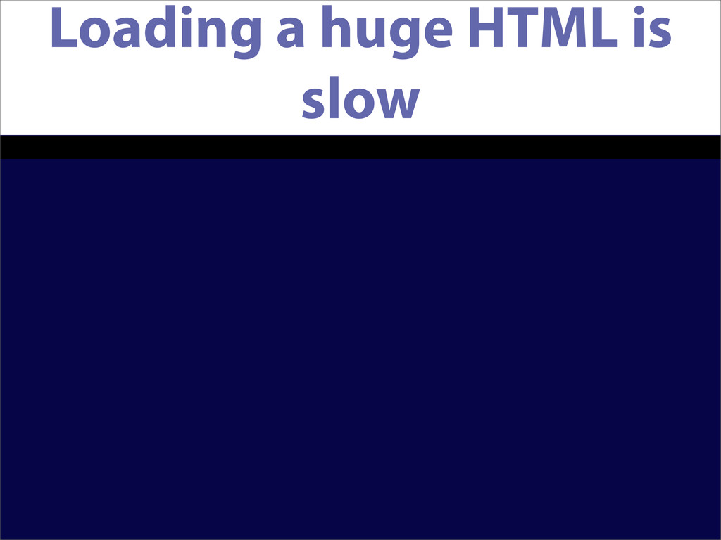 Loading a huge HTML is slow