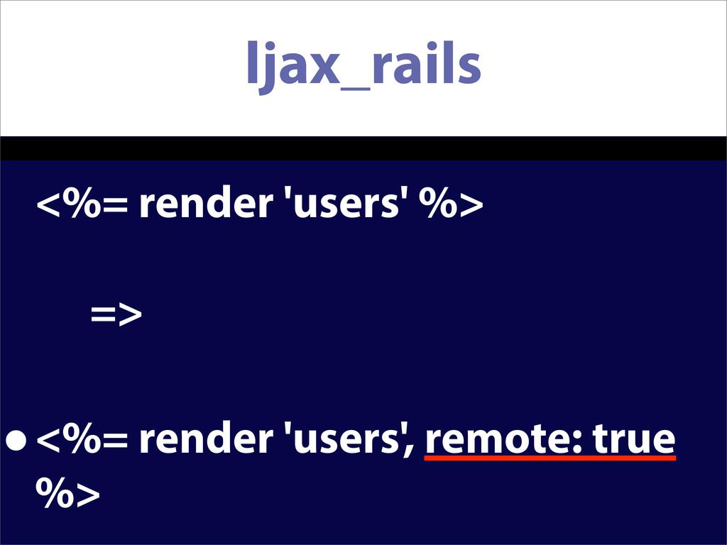 ljax_rails <%= render 'users' %> => •<%= render...