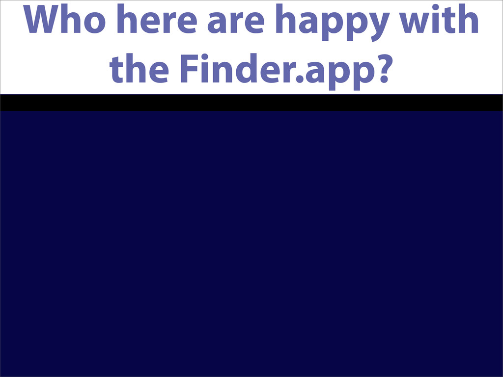 Who here are happy with the Finder.app?