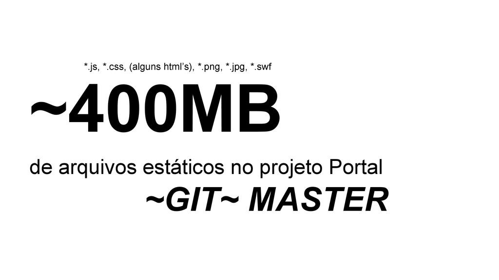 ~400MB de arquivos estáticos no projeto Portal ...