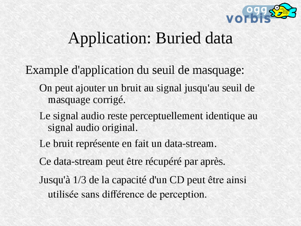 Application: Buried data Example d'application ...