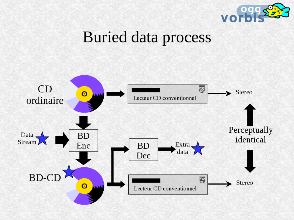 Buried data process Stereo Lecteur CD conventio...