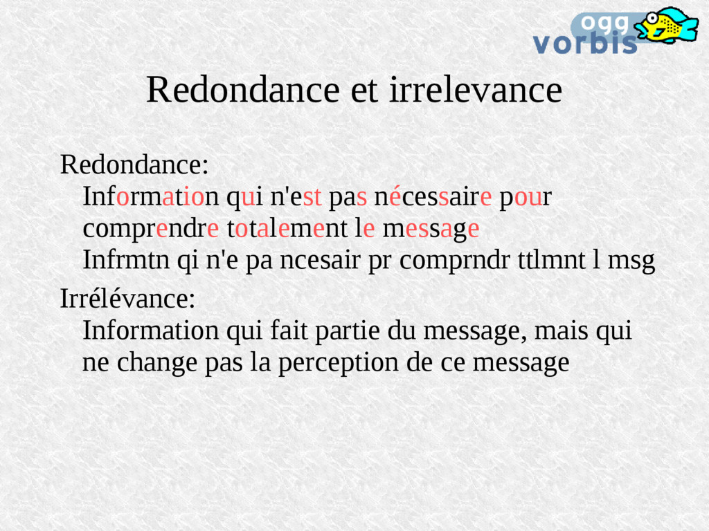 Redondance et irrelevance Redondance: Informati...