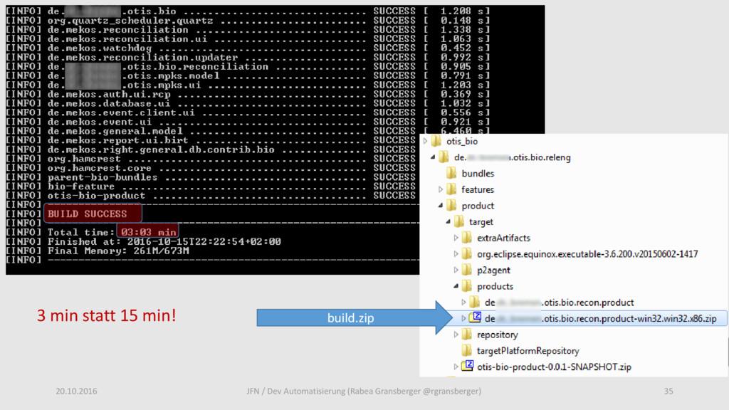20.10.2016 35 JFN / Dev Automatisierung (Rabea ...