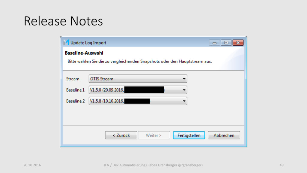 Release Notes 20.10.2016 49 JFN / Dev Automatis...