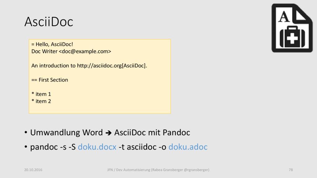 AsciiDoc • Umwandlung Word  AsciiDoc mit Pando...