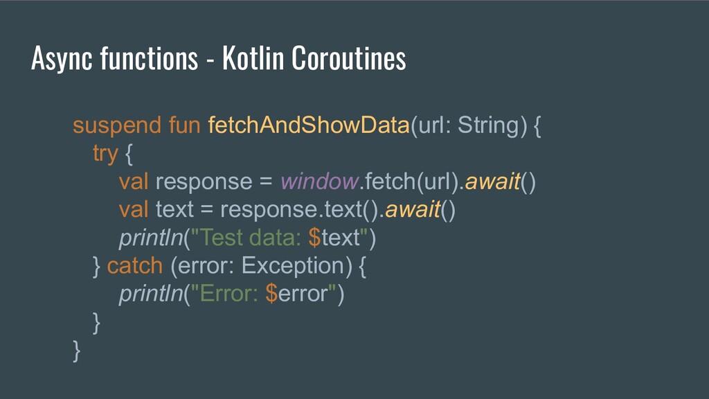 Async functions - Kotlin Coroutines suspend fun...